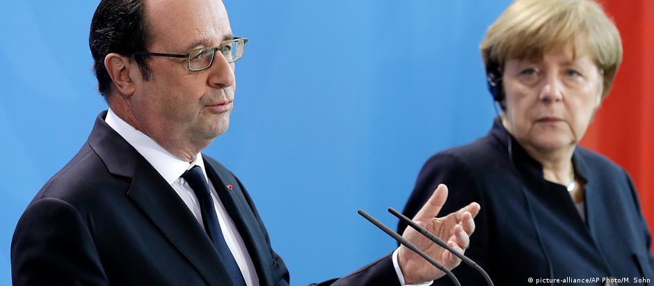 Hollande e Merkel se reuniram em Berlim