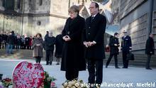 BERLIN Bundeskanzlerin Angela Merkel und der französische Präsident Francois Hollande besuchen Breitscheidplatz