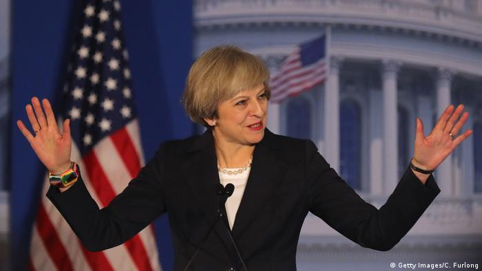 Theresa May besucht die USA (Getty Images/C. Furlong)