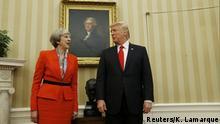 Treffen mit dem US-Präsidenten - May bei Trump