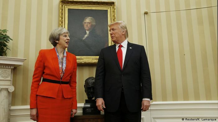 Treffen mit dem US-Präsidenten - May bei Trump (Reuters/K. Lamarque)