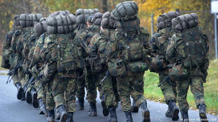 Soldiers on basic training