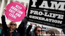 27.01.2017+++Washington, USA+++ Pro-life and pro-choice activists gather at the Supreme Court for the National March for Life rally in Washington January 27, 2017. REUTERS/Aaron P. Bernstein