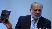 Millionär Carlos Slim bei einem Forum in Mexiko City
