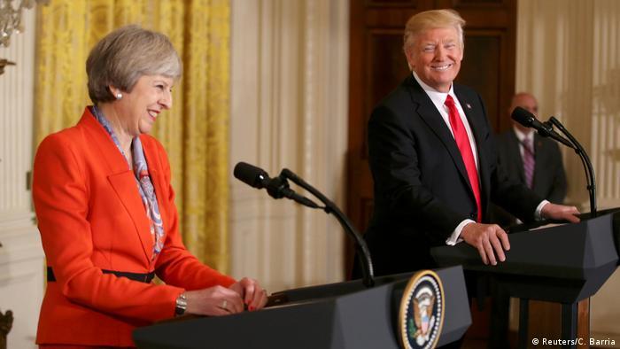 Treffen mit dem US-Präsidenten - May bei Trump (Reuters/C. Barria)