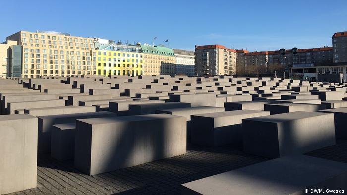 Мемориал жертвам Холокоста в центре Берлина