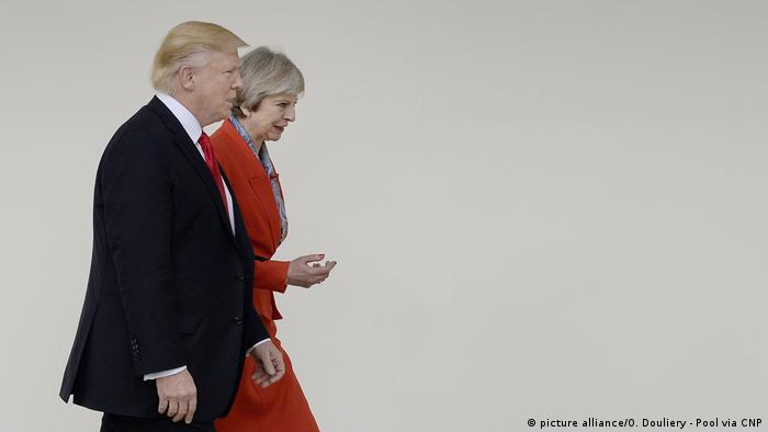 US President Trump holds bilateral meeting with UK Prime Minister May . DC (picture alliance/O. Douliery - Pool via CNP)