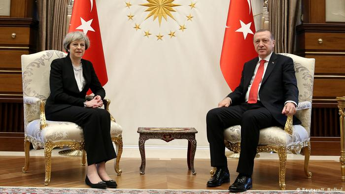 Theresa May und Erdogan in Ankara (Reuters/Y. Bulbul)