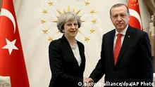 Theresa May und Erdogan in Ankara