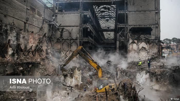 TeheranPlasco nach der Entfernung der Trümmer. (Isna)