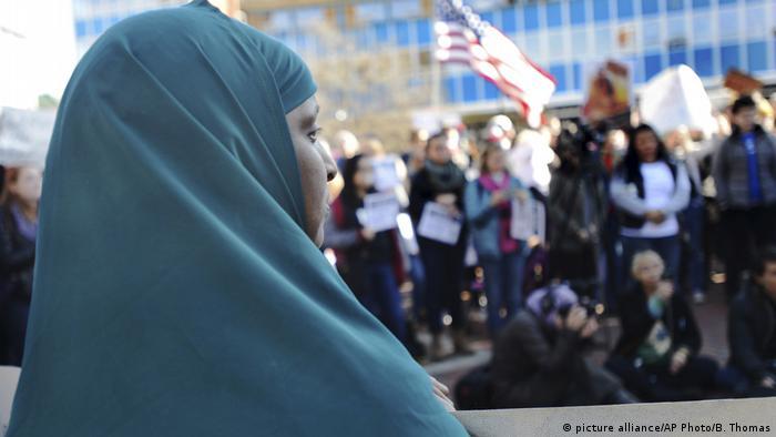 USA Demonstration von Flüchtlingen in Durham