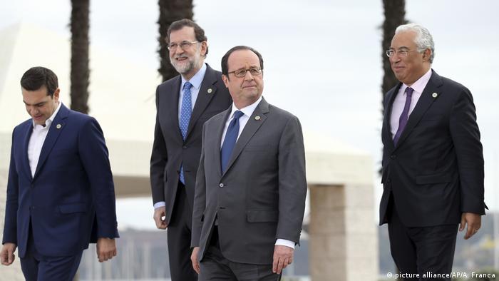 Portugal EU-Südstaaten fordern stärkeres Europa und Antworten auf Trump (picture alliance/AP/A. Franca)