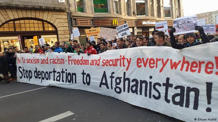 Afghan asylum seekers in Germany protest against deportations