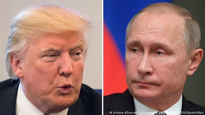 Donald Trump und Wladimir Putin (picture alliance/A. Lohr-Jones/A. Astafyev/CNP POOL/Sputnik/dpa)