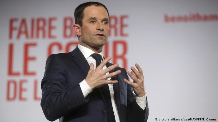 Frankreich Wahlen Benoît Hamon (picture alliance/dpa/MAXPPP/T. Camus)