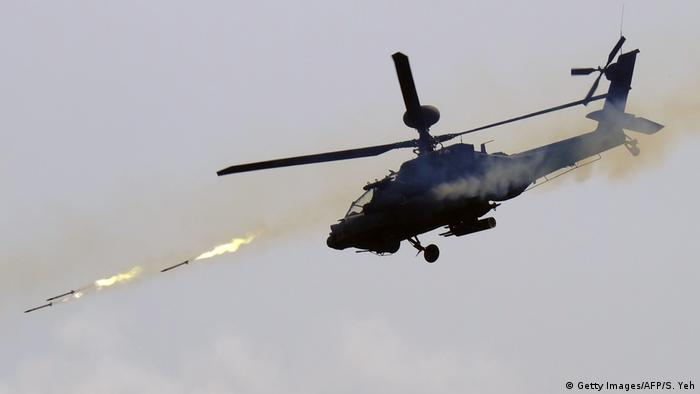 US Apache Hubschrauber (Getty Images/AFP/S. Yeh)