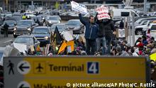 Jan. 28, 2017*** Protesters assemble at John F. Kennedy International Airport in New York, Saturday, Jan. 28, 2017 after two Iraqi refugees were detained while trying to enter the country. On Friday, Jan. 27, President Donald Trump signed an executive order suspending all immigration from countries with terrorism concerns for 90 days. Countries included in the ban are Iraq, Syria, Iran, Sudan, Libya, Somalia and Yemen, which are all Muslim-majority nations. (AP Photo/Craig Ruttle) |