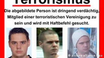 A poster published by Germany's Federal Office of Criminal Investigation shows Eric Breininger