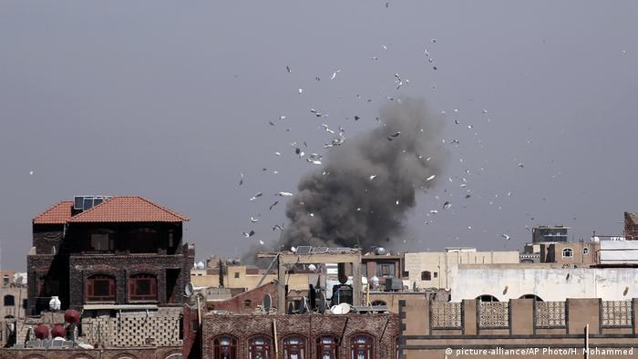 Jemen Luftangriff Sanaa (picture-alliance/AP Photo/H. Mohammed)