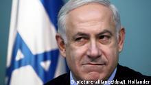 ARCHIV - Der israelische Ministerpräsident Benjamin Netanjahu gibt am 17.01.2010 in Jerusalem, Israel, eine Pressekonferenz. (zu dpa «Netanjahu lehnt Pariser Friedenskonferenz als «Manipulation» ab» vom 12.01.2017) Foto: Jim Hollander/EPA/dpa +++(c) dpa - Bildfunk+++  