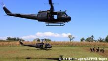 Philippinen Helikopter bei Butig Stadt
