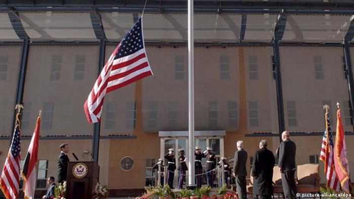 Открытие нового здания посольства США в Багдаде в 2009 году