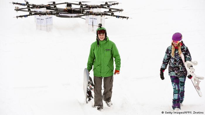 Droneboarding in Lettland (Getty Images/AFP/I. Znotins)