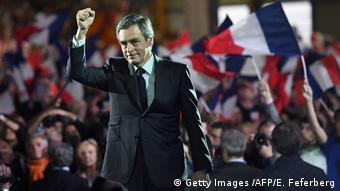 Wahlkampfauftitt in Paris des Präsidentschaftskandidaten der Konservativen Francois Fillon