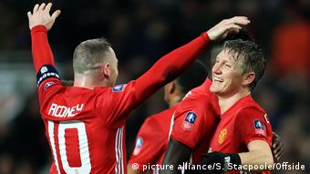 Fußball - FA Cup Manchester United gegen Wigan Athletic Bastian Schweinsteiger (picture alliance/S. Stacpoole/Offside)