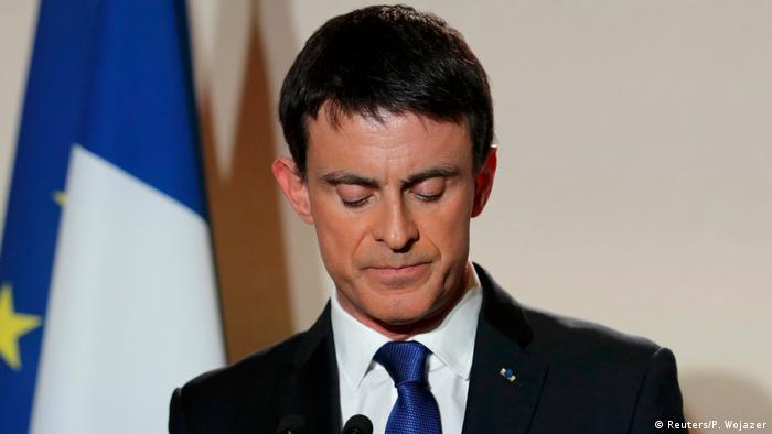 Präsidentschaftskandidatur Manuel Valls ehemaliger Premierminister reagiert auf vorläufiges