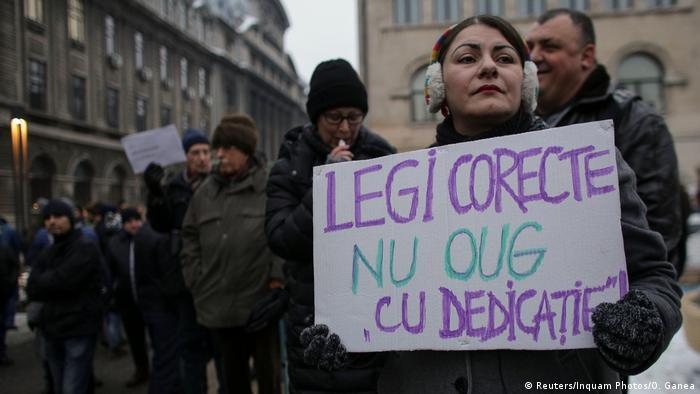 Rumanien Protest gegen Lockerung der Antikorruptionsgesetze