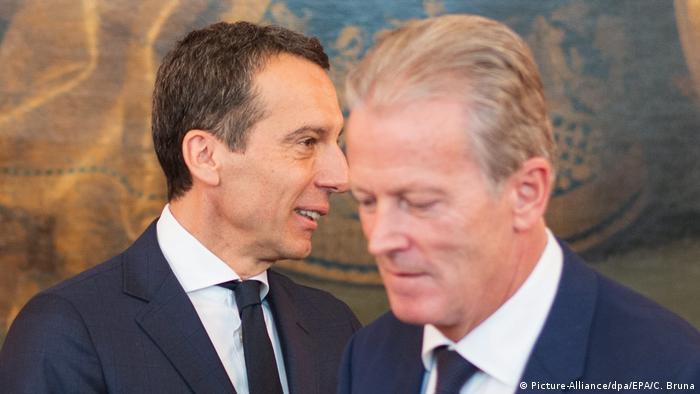 Zukunft von Österreichs Regierung ungewiss Christian Kern und Reinhold Mitterlehner