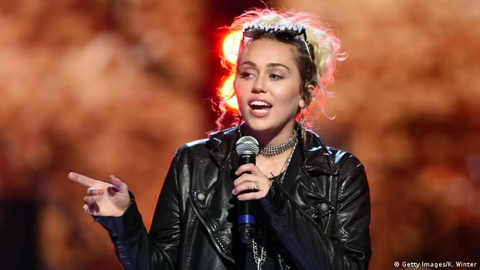 US singer Miley Cyrus (Getty Images/K. Winter)