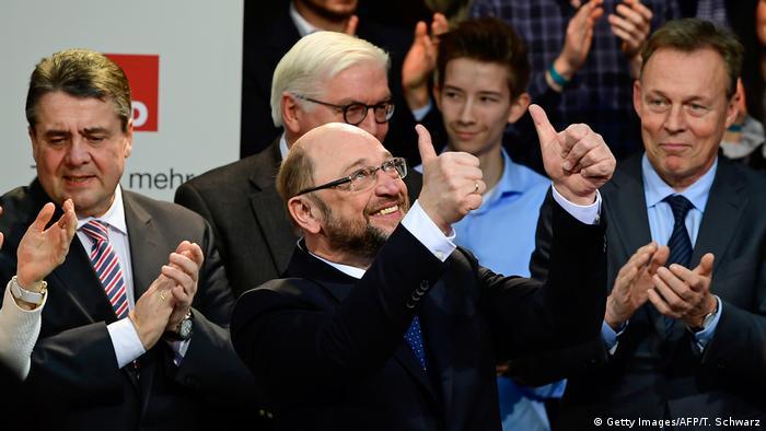 Berlin SPD PK Martin Schulz Kanzlerkandidatur (Getty Images/AFP/T. Schwarz)