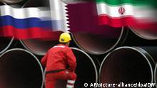 Symbolbild Gas aus Russland Qatar Iran