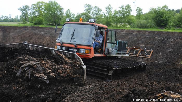 Deutschland Moorlandschaft Torfabbau (picture-alliance/blickwinkel/N. Lipka)