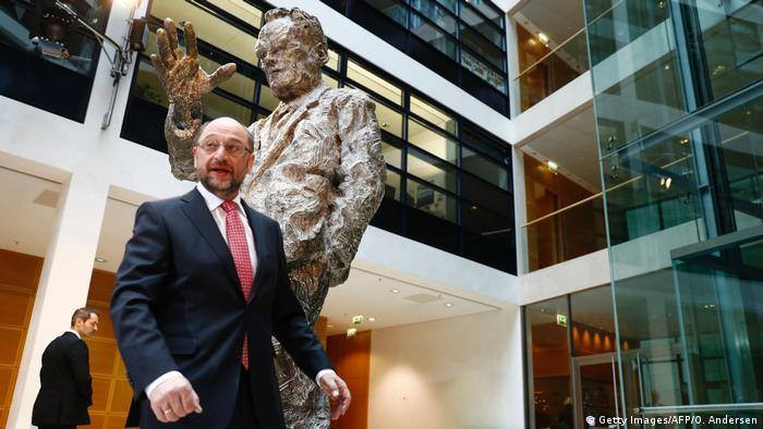 Deutschland Martin Schulz SPD Kanzlerkandidat im Willy Brandt Haus in Berlin (Getty Images/AFP/O. Andersen)