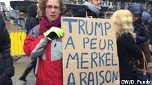 Brüssel - Demonstranten bei Anti-Trump-Protest