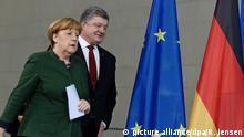 Deutschland Merkel und Poroschenko: Lage in der Ostukraine besorgniserregend