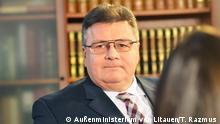 Litauen Vilnius - Interview mit Litauens Außenminister Linas Linkevicius