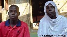 Nigeria Usman mit Mutter nach der Flucht vor Boko Haram