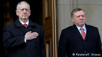USA Washington Verteidigungsminister James Mattis & König Abdullah, Jordanien