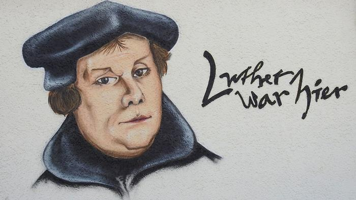Martin Luther Wandmalerei