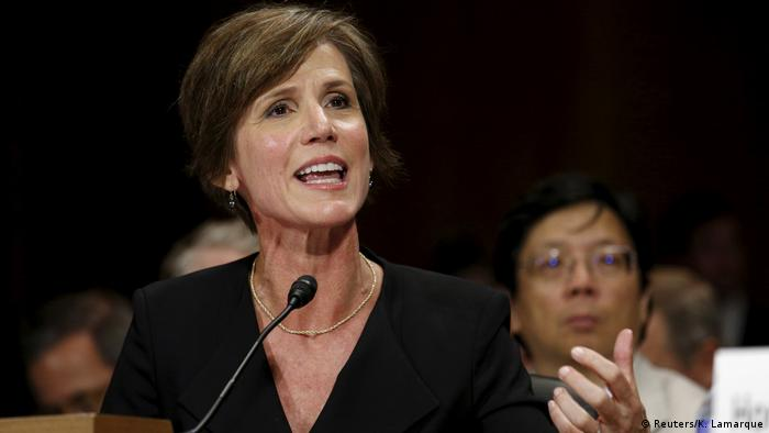 USA Stellvertretende Generalstaatsanwältin Sally Yates in Washington (Reuters/K. Lamarque)