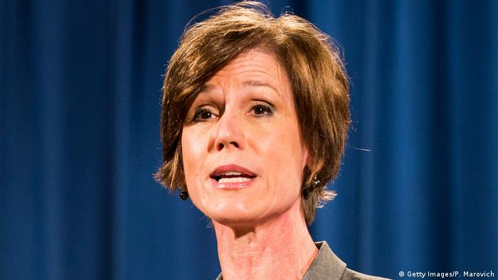 USA Stellvertretende Generalstaatsanwältin Sally Yates in Washington (Getty Images/P. Marovich)