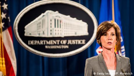 Washington Sally Q. Yates Vize-Justizministerin (Getty Images/P. Marovich)