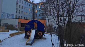 Berlin park in the winter