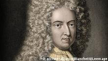 Portrait de Daniel de Foe ou Defoe (1660-1731), ecrivain et journaliste anglais - Daniel Defoe (1660-1731) - English novelist and journalist ©Bianchetti/Leemage | Keine Weitergabe an Wiederverkäufer.