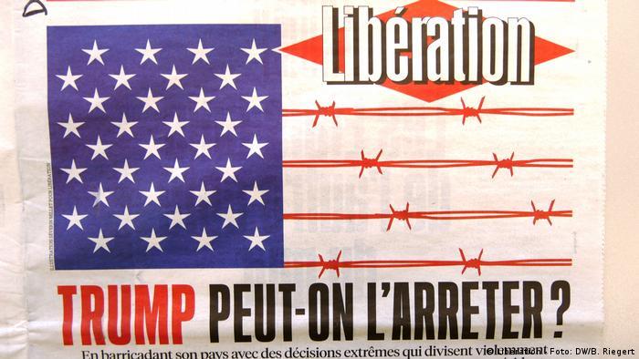 Titelbild französische Zeitung Liberation (Libération - Foto: DW/B. Riegert)