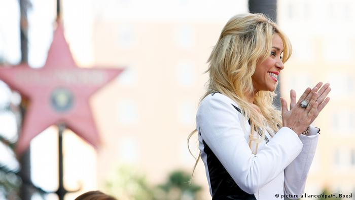USA Shakira Hollywood Walk of Fame (picture alliance/dpa/H. Boesl)